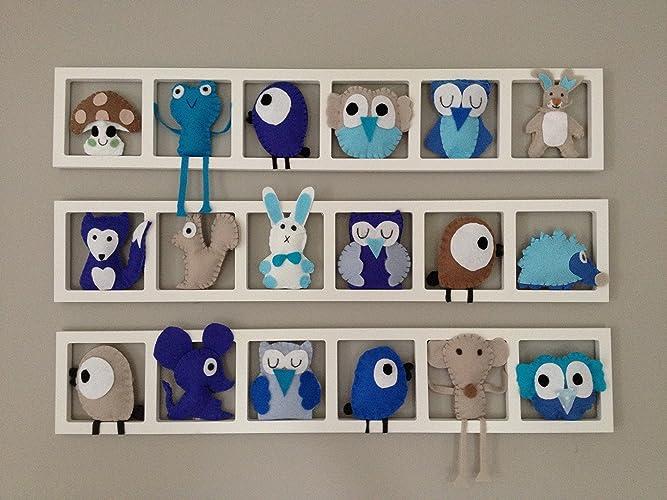 Decoration murale chambre de bébé - Composition figurines animaux ...