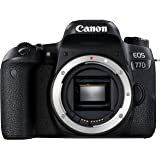 Canon EOS 77D Gehäuse SLR-Digitalkamera (24,2 MP, 7,7 cm (3 Zoll) Display, APS-C CMOS Sensor, Full HD) schwarz