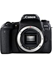 Canon EOS 77D - Cámara réflex de 24.2 MP (vídeo Full HD, WiFi, Bluetooth) Color Negro