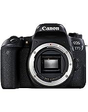 Canon EOS 77D Gehäuse SLR-Digitalkamera (24,2 MP, 7,7cm (3 Zoll) Display, APS-CCMOS Sensor, Full HD) schwarz