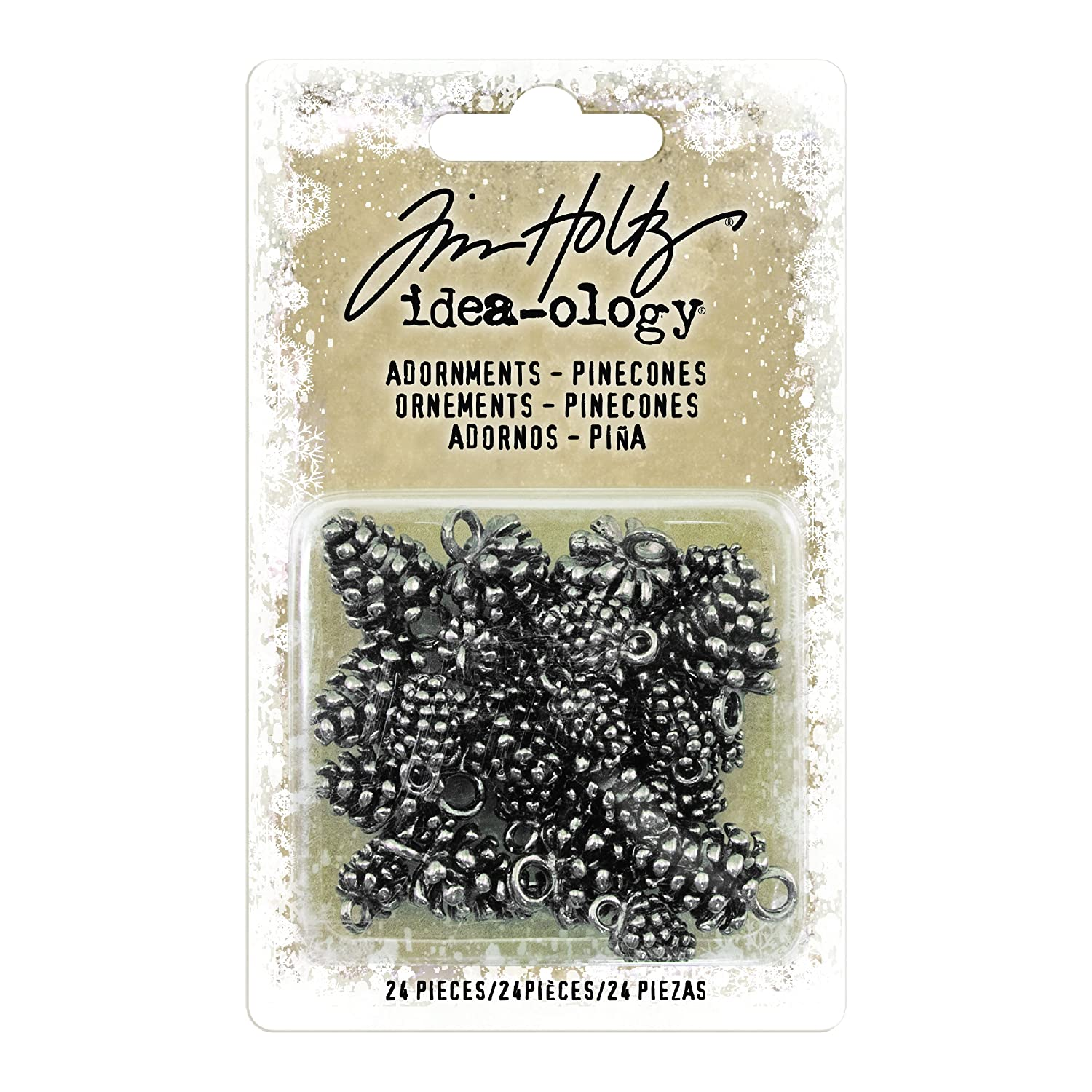 Advantus TH93633 Sewing Embellishments, Antique Nickel Pinecones