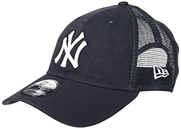 f83e6d06784be New Era Hommes 9FORTY Trucker Lavé New York Yankees Mlb Casquette Bleu  Marine Taille Unique Taille