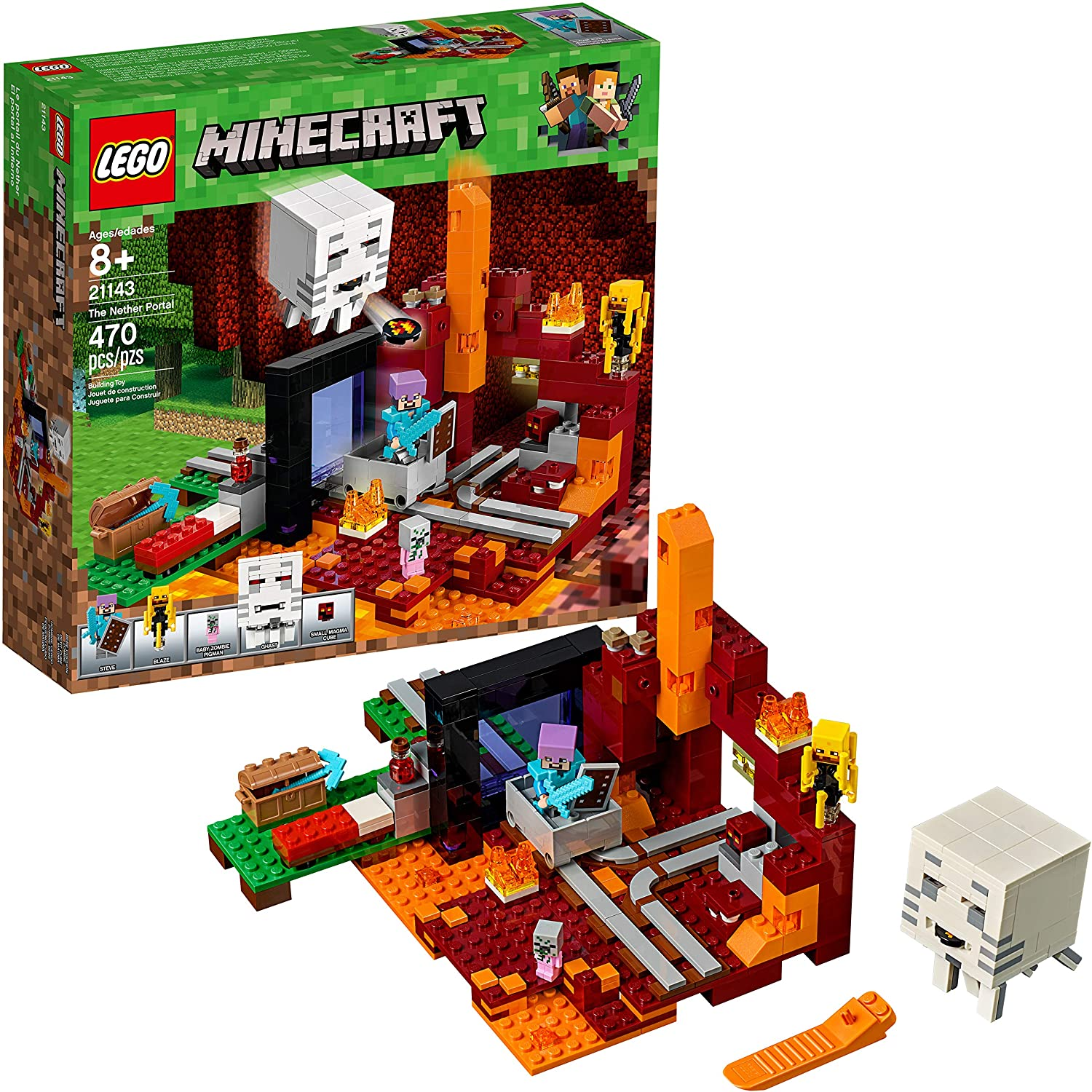 LEGO Minecraft The Nether Portal 21143 Building Kit (470 Pieces)