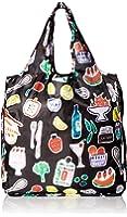 Kate Spade New York Women's Reusable Shopping Tote Groceries, black, No Size