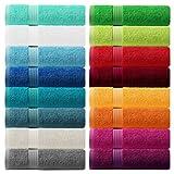 Lashuma® Handtuch - Frotteeserie Linz - in 16 Farben und 6 Größen, Farbe: dunkel grau, Duschtuch 70x140 cm