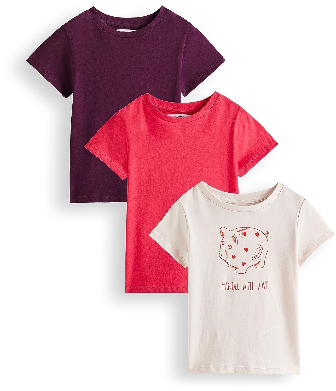 RED WAGON T-Shirt con Stampa Bambina, Pacco da 3 AKG-009-1