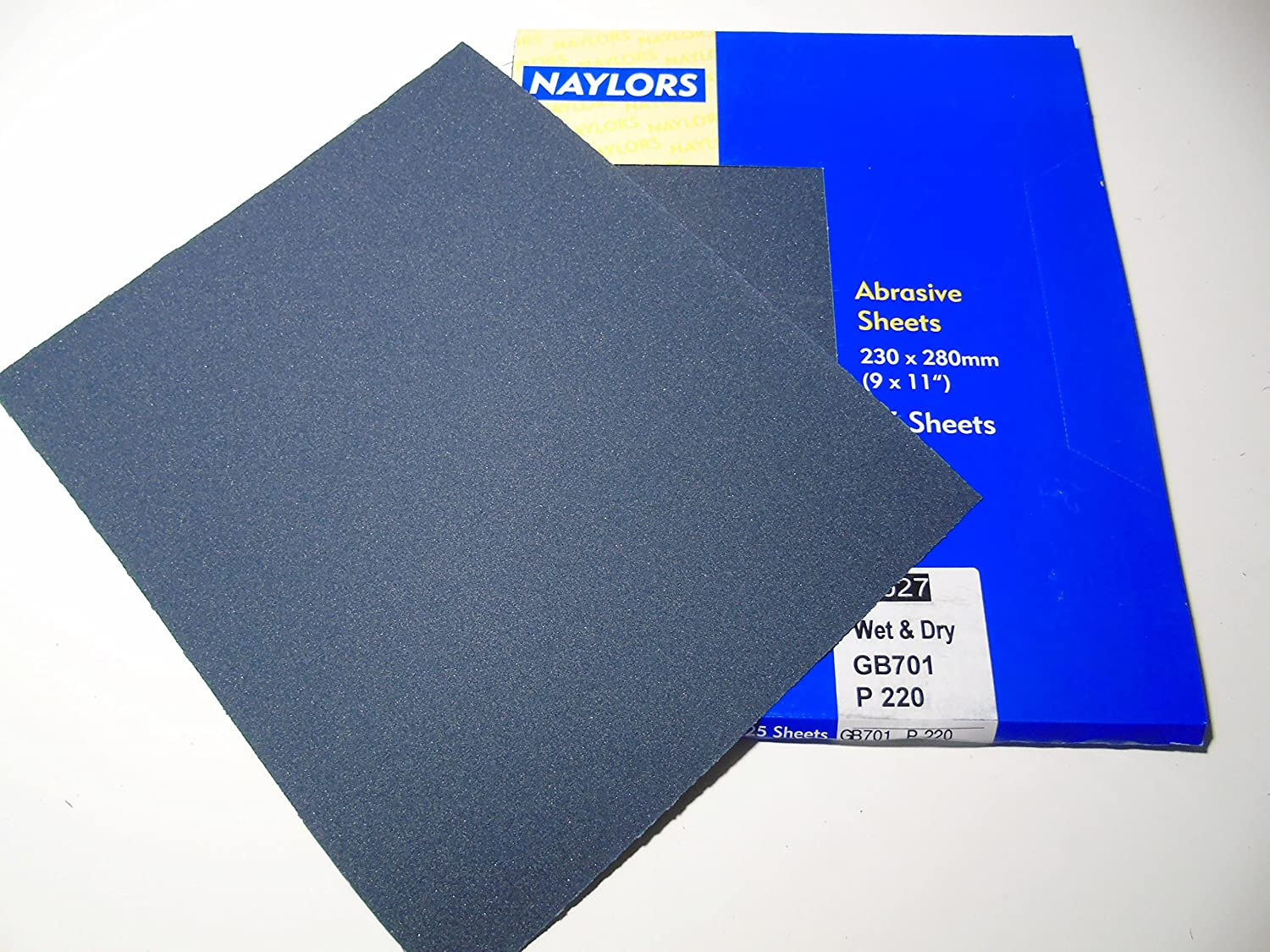 10 x Grit 220 Wet and dry Sandpaper Sheets waterproof Abrasive Coarse Medium / Fine Quality Silicon Carbide Naylors