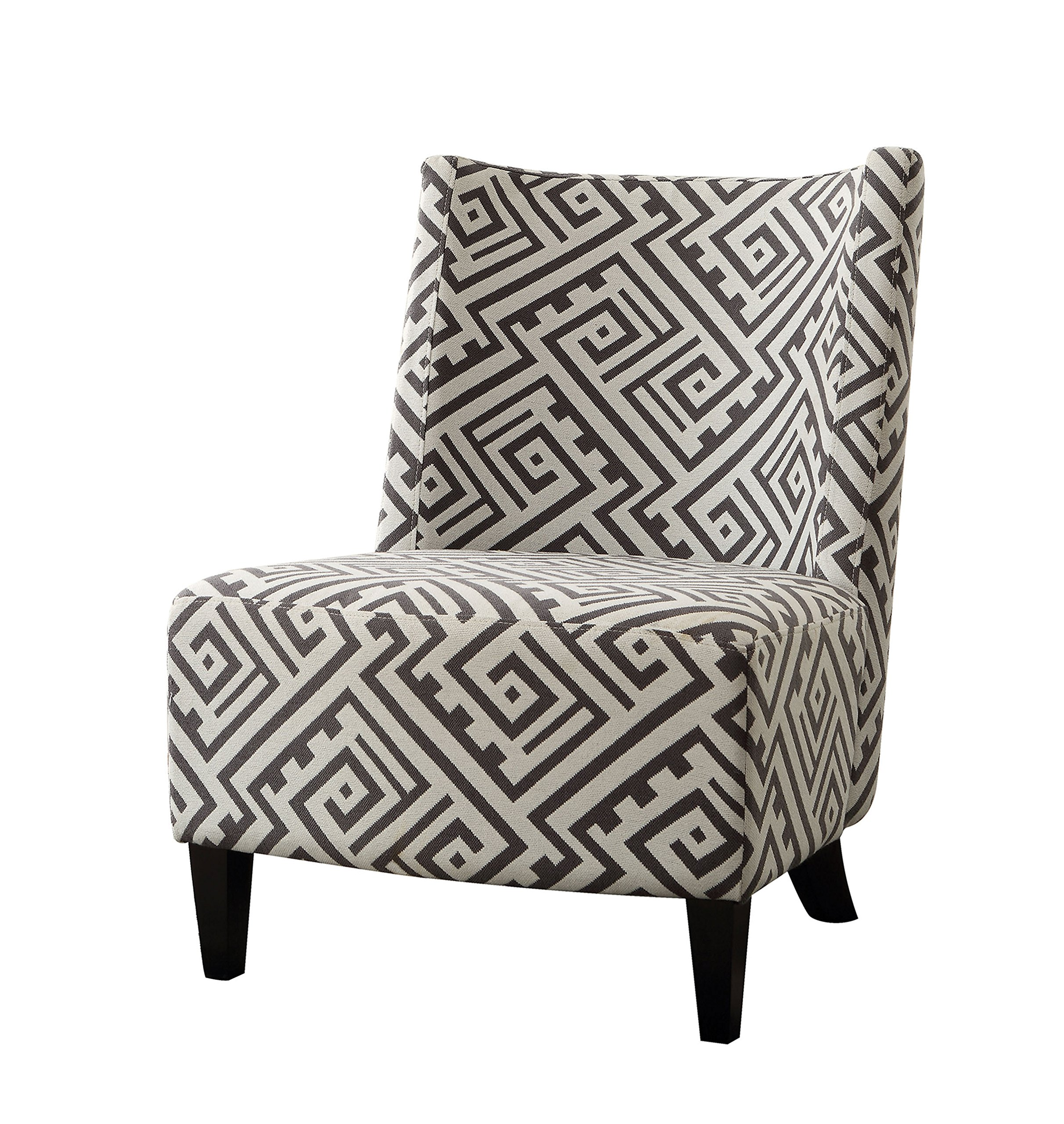 HOMES: Inside + Out IDF-AC6125 Robbin Accent Living Room Chair, Black/White