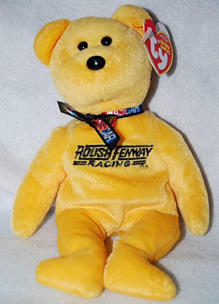 352186b2634 Image Unavailable. Image not available for. Color  Ty NASCAR Beanie Baby  Bear ...