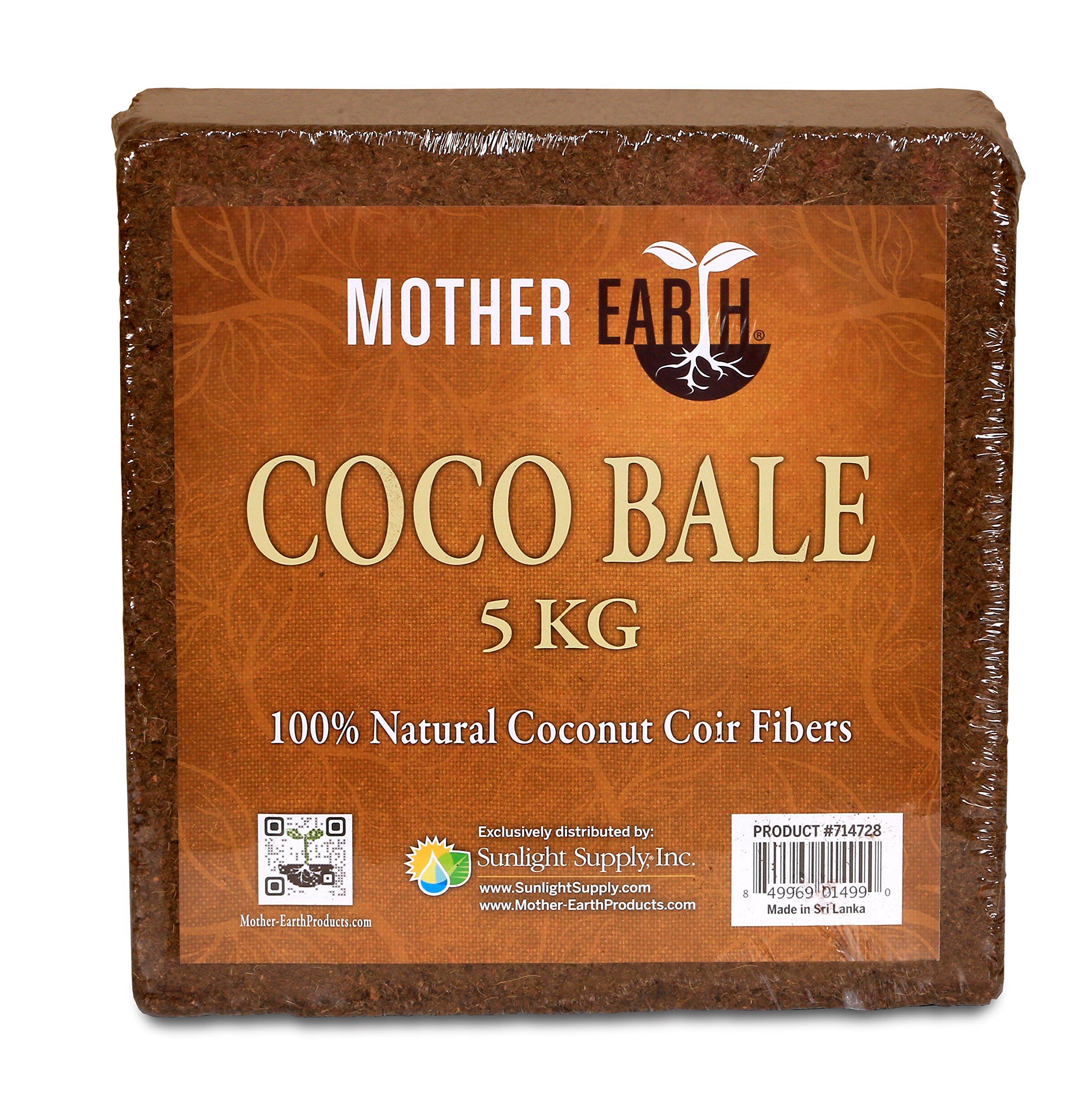 Mother Earth Coco Bale | 5kg | 100% Natural Coconut Fiber