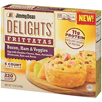 Jimmy Dean Delights Frittatas Bacon Ham Vegetables And Cheddar