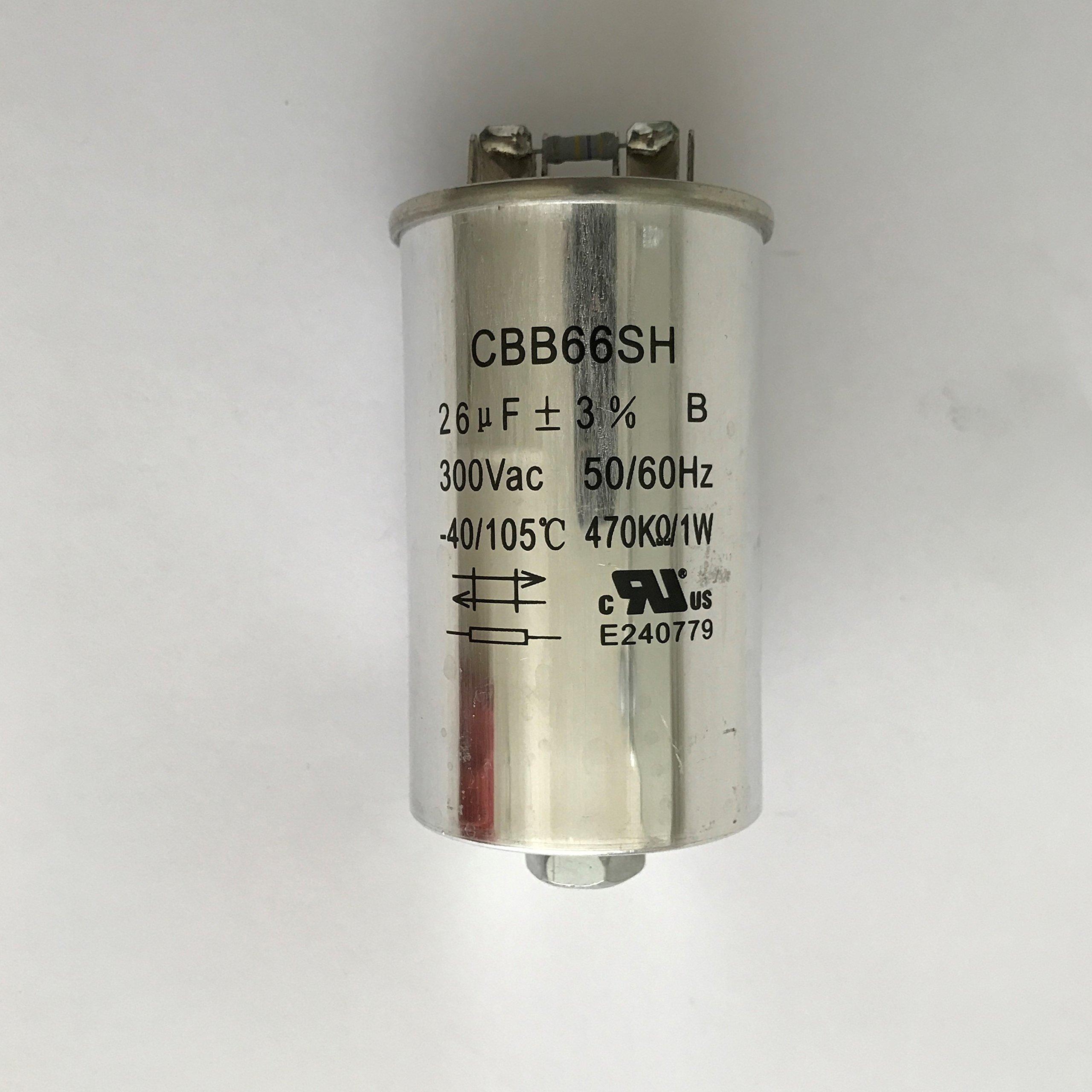 Capacitor 26uF/300VAC 120-480 Volt for Metal Halide 350 Watt-PS (1 Piece)