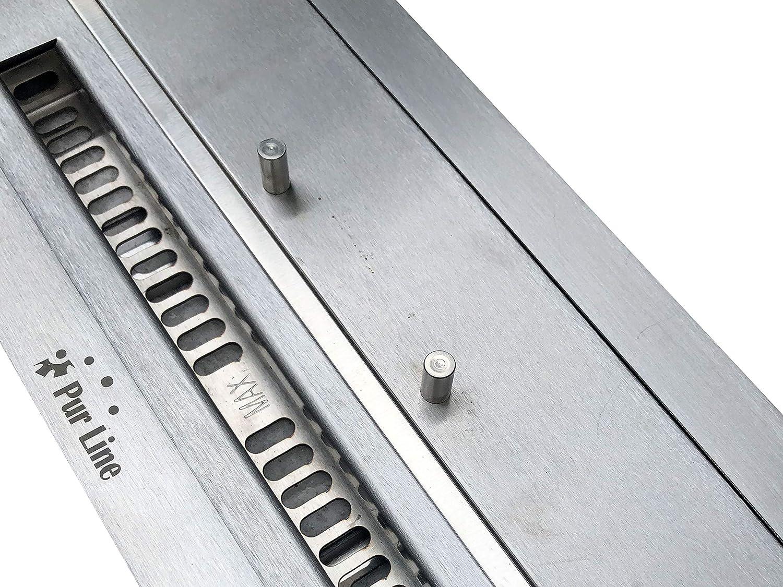 PURLINE F9645 Bloque de combusti/ón 2,5 L para chimeneas de le/ña con regulador de llama