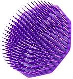 Scalpmaster Shampoo Brush, Purple Plastic Bristles with Finger Ring (Pack of 1)