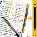 CleverPL Divider Sticky Notes 60 Ruled Notes,4 x 6 Inches,Assorted Neon Colors