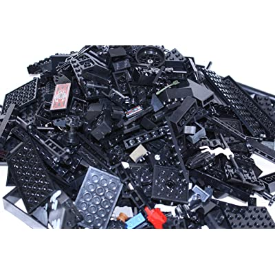 LEGO~ ONE POUND of BLACK LEGO BRICKS, BLOCKS, PLATES ASSORTED SIZES: Toys & Games