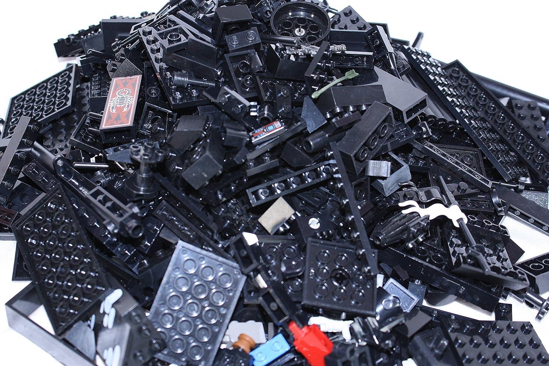 LEGO~ ONE POUND of BLACK LEGO BRICKS, BLOCKS, PLATES ASSORTED SIZES