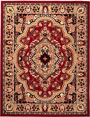 carpeto klassischer orientteppich perserteppich mit orientalisch muster kurzflor in rot top preis oko