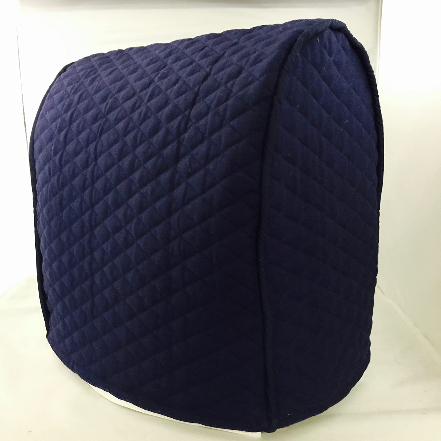 Simple Home Inspirations Navy Cover Compatible for Kitchenaid Stand Mixer, Tilt Head (Quilted Double Faced Cotton)