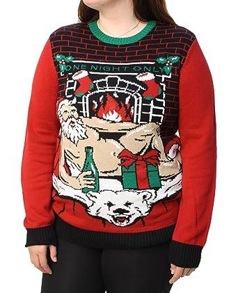 Ugly Christmas Sweater Plus Size Une Nuit Seule Lumière Des Femmes