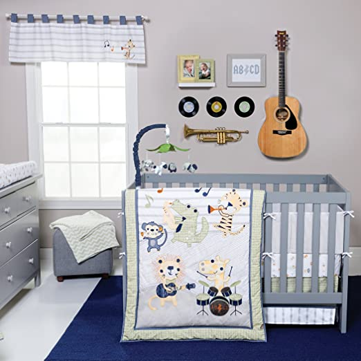 Trend Lab Safari Rock Band Crib Bedding Collection