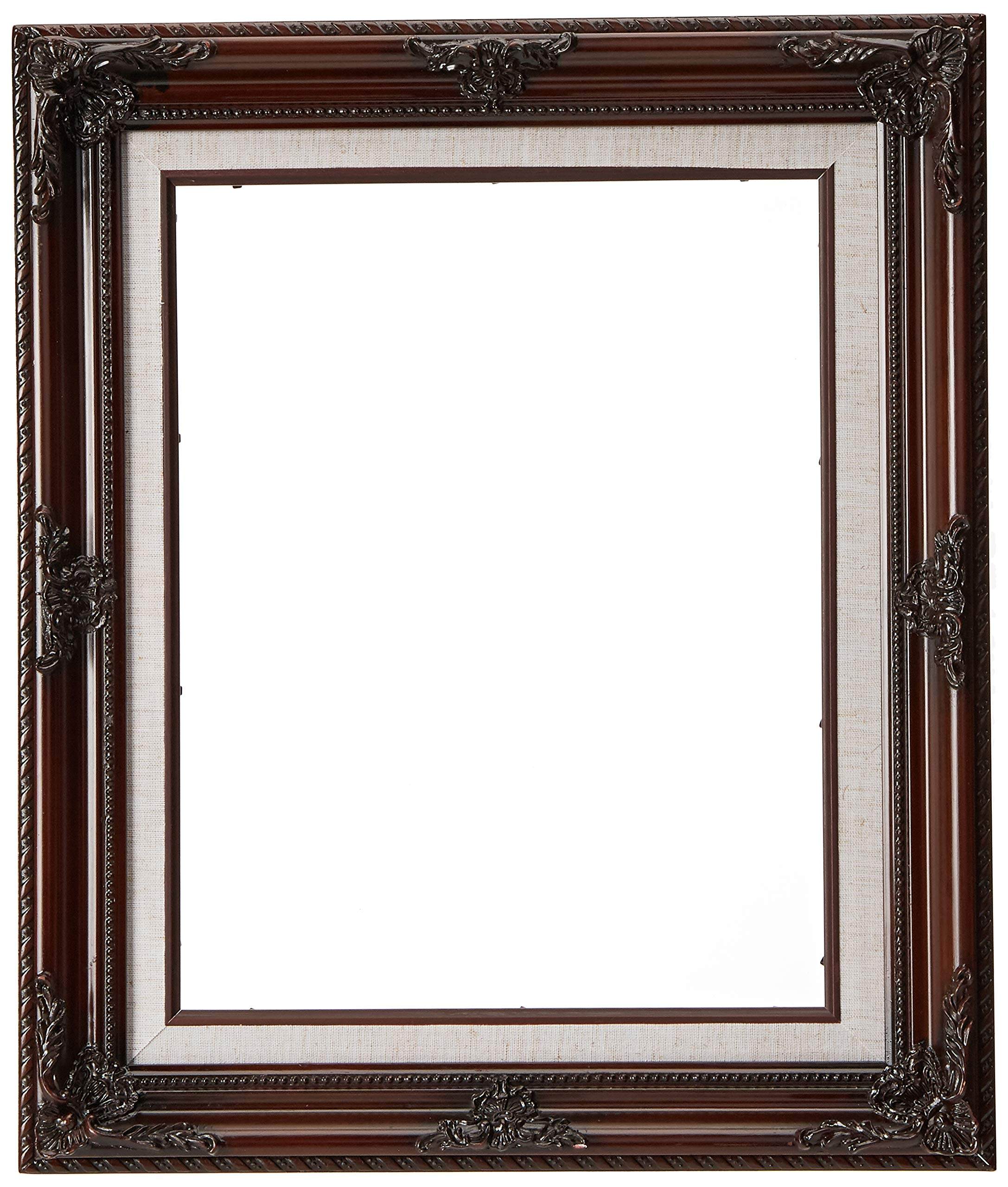 MyFrameStore Molded 11x14 Imperial Wooden Picture Frames - Dark Mahogany | Exclusive Floral Design for Wedding, Hallway, Bedroom, Living Room & Office Décor. Wall Photo Frame & Wall Mounting Material,