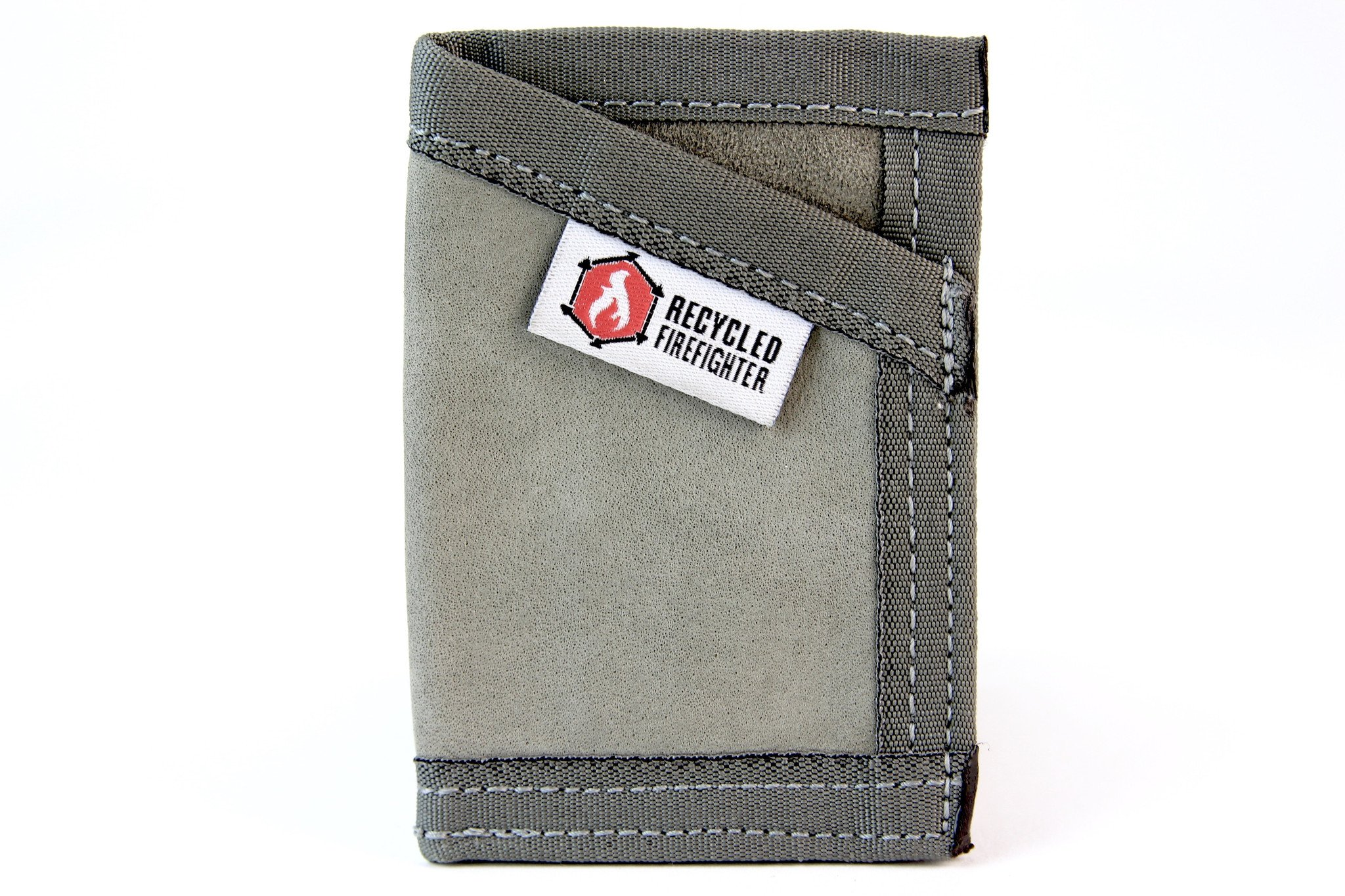 """Leather Money Clip Wallet – """"Combat Boot Leather"""" - Recycled + Waterproof + Fireproof +Made in USA - Unique Wallets for Men (Foliage Grey) …"""