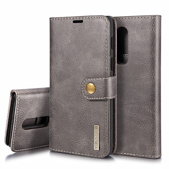 super popular 37c3e 69624 FUNIT Cowhide Leather Wallet Case for OnePlus 6 Purse Case [Detachable 2 in  1 Series] [Stand Case with Magnetic Closure] [3 Card Slots Cash Pocket] ...