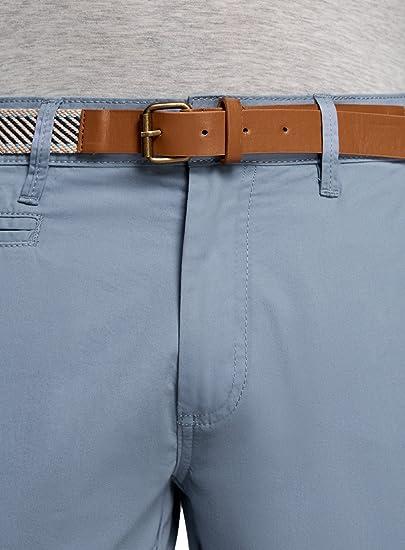Solid Lomego Chino Pantalon Corto Bermuda Pantalones De Tela Para Hombre Hombre Pantalones Cortos