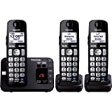 Panasonic KX-TGE233B Expandable Cordless Digital Phone with Large Keypad - 3 Handsets