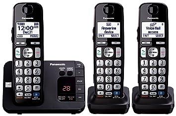 Panasonic KX-TGE233B - Teléfono (Teléfono DECT, Terminal inalámbrico, Altavoz, 100 entradas, Identificador de Llamadas, Negro): Amazon.es: Electrónica