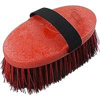 Haas Cepillos para caballos en rojo de Negro