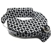 My Brest Friend My Brest Friend Nursing Pillow, Black and White Marina