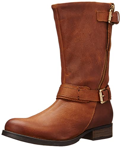 Amazon.com | Steve Madden Women\'s Kavilier Motorcycle Boot | Mid-Calf