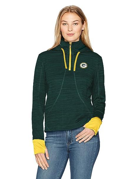 ... NFL Green Bay Packers Women s OTS Annabelle 1 4-Zip Pullover Hoodie 3aeecc28b