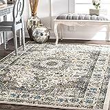 nuLOOM 200RZBD07B-53079 Traditional Persian Vintage Dark Blue Rug (5-Feet 3 X 7-Feet 9)