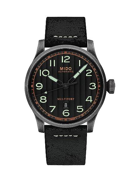 Mido Reloj de hombre automático 44mm correa de cuero caja de M0326073605009