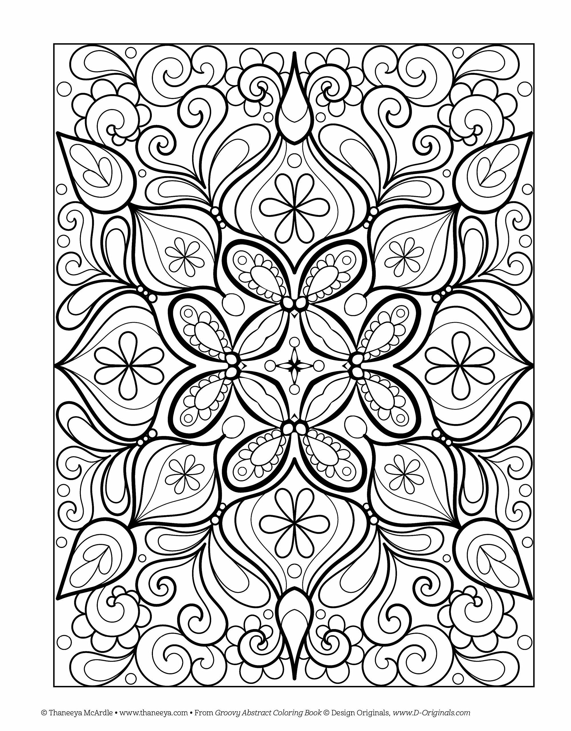 Amazon.com: Groovy Abstract Coloring Book (Design Originals ...