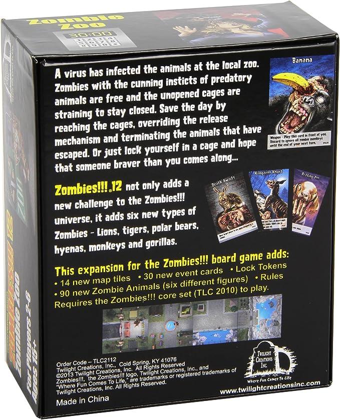 Twilight Creations - Zombies! 12 Zombie Zoo Juego de Mesa, de expansión para Zombie!: Amazon.es: Juguetes y juegos