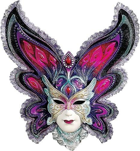 Design Toscano Maidens of Mardi Butterfly Maiden Gras Wall Mask Sculpture