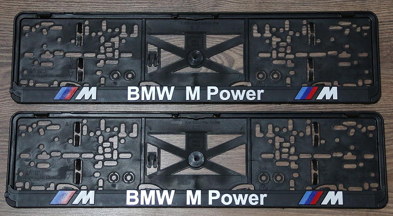 2x mpower Kennzeichenhalter Nummernschildhalter KFZ Halter for EU au/ßer AT M Power Performance
