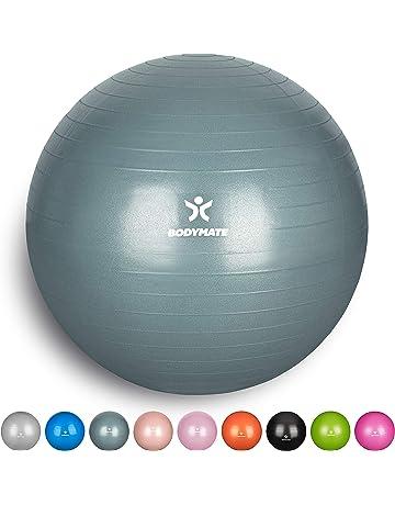 Luft-Pumpe Fitness Yoga Core BODYMATE Gymnastikball mit GRATIS E-Book inkl