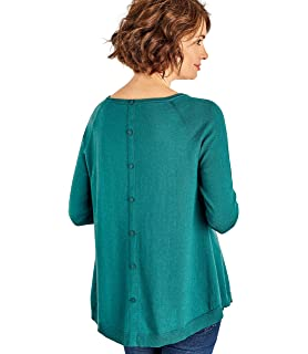 3d4dd6975023 Woolovers Womens Cable Front Swing Jumper Persian Teal