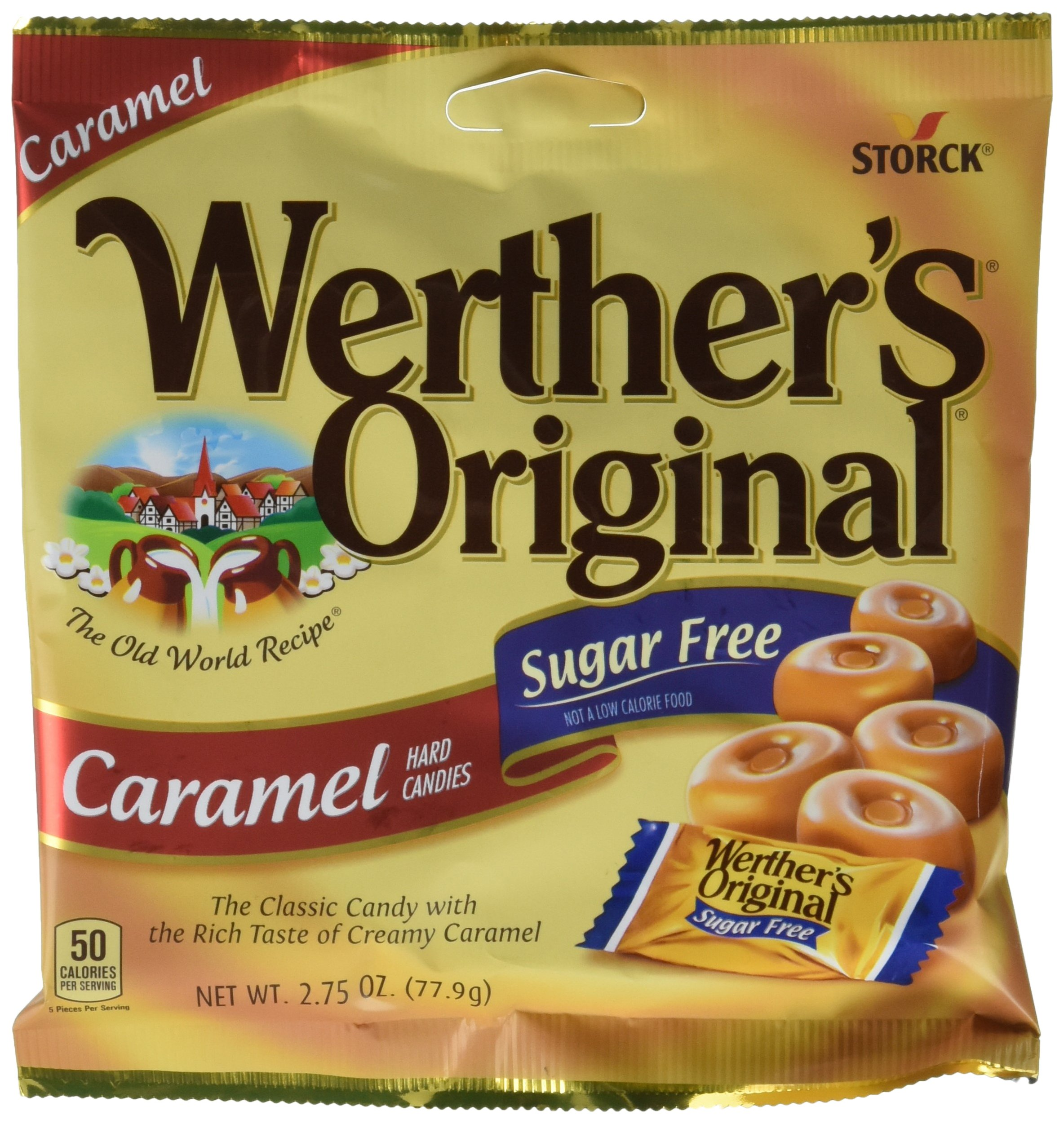 Werthers Original Sugar Free Caramel Hard Candies 12 Pack by Werther's