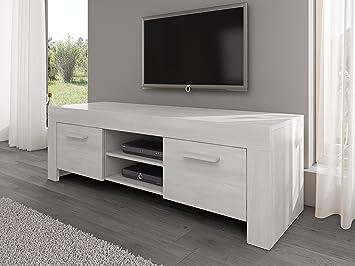 TV Mobile TV Porta Mobili Supporto Rome Bianco rovere, 160 cm ...