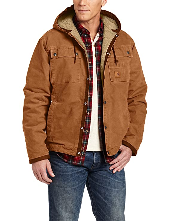Amazon.com: Carhartt Mens Sherpa Lined Sandstone Hooded ...