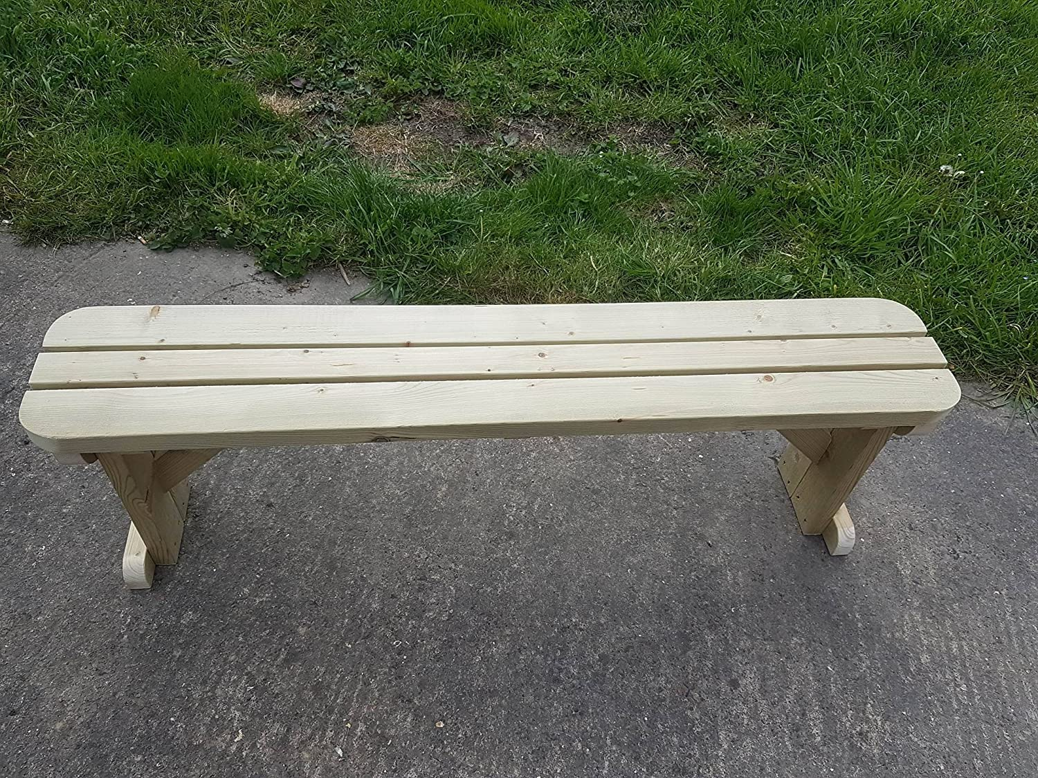 Super Saturday HOLLIES Rounded Wooden Garden Picnic Bench ...