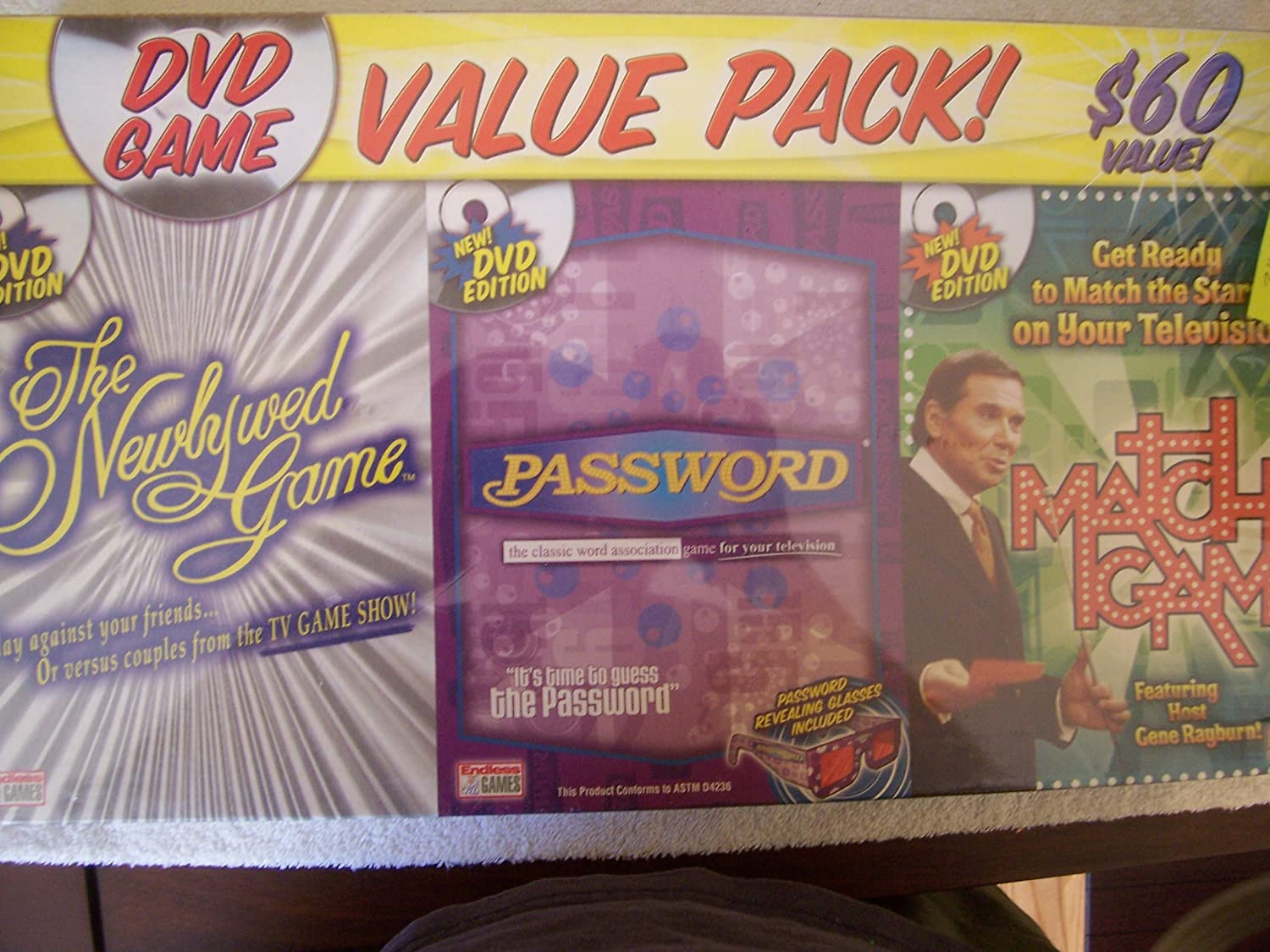 3 Pack of DVD Game Shows - Match Game, Newlywed Game, Password: Amazon.es: Juguetes y juegos