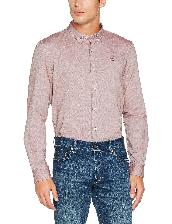 TALLA S. Timberland LS Slim Rattle RVR O, Camisa para Hombre