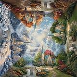 Schmidt 59295 - Thomas Kinkade, Quadratpuzzle, Die Kirche in den Bergen, Puzzle, 1000 Teile